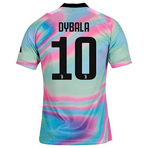 fa927b9a15a ZhouDress Juventus 2018 2019 Season  10 Dybala Mens Commemorative Limited  Edition Soccer Jersey Size S Rainbow