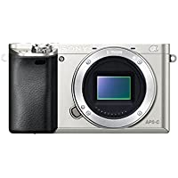 Sony Alpha a6000 Mirrorless Digital Camera - Body only (Silver) - International Version (No Warranty)