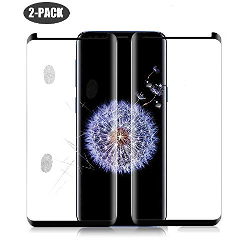 [2-Pack] Galaxy S9 Plus Screen Protector(6.2), Tempered Glass [9H Hardness][Anti-Fingerprint][Ultra-Clear][Anti-Bubble] Screen Protector,Case Friendly Galaxy S9 Plus (2Pack)