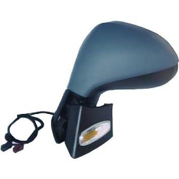 Retrovisor lateral exterior izquierdo con PEUGEOT 207, 06 intermitente de electricidad, calefacción, para pintar, color negro: Amazon.es: Coche y moto