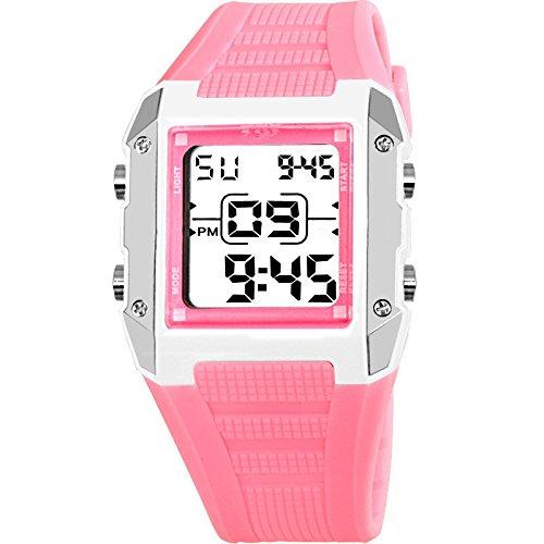 Happy Digital Kids Relojes resistente al agua Natación reloj deportivo niños niñas LED Digital relojes para