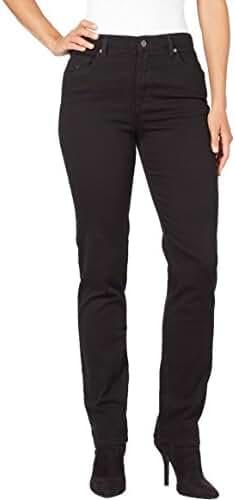 Gloria Vanderbilt Women's Amanda Tapered Leg Jean in Black