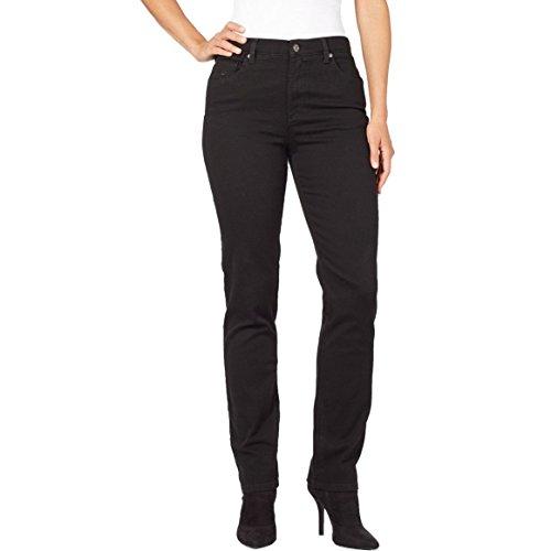 Gloria Vanderbilt Women's Amanda Tapered Leg Jean in Black, 18 Plus ()