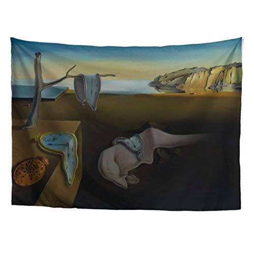World Classic Art Masterpiece Tapestry Series|Salvador Dalí, The Persistence of Memory, Expressionism, 1931. Classical Art Tapestry, Wall-Hanging Antique, Vintage, Collection,Home Décor ()