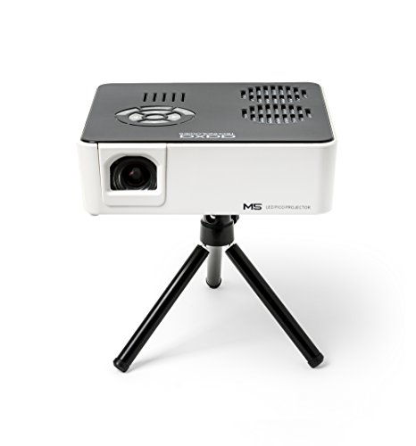 Aaxa m5 mini portable business projector with built in for Small projector with high lumens