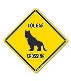 PetKa Signs and Graphics PKAC-0459-NA_10x10 Cougar Crossing Aluminum Sign, 10' x 10'
