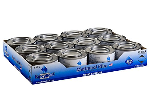 - Methanol 7-Ounce Entertainment Cooking Fuel, 12 -Pack Gel Chafing Cans