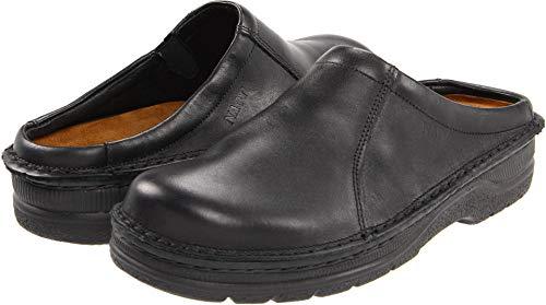 Naot Men's Bjorn Flat,Black Matte Leather,42 EU/9-9.5 M US