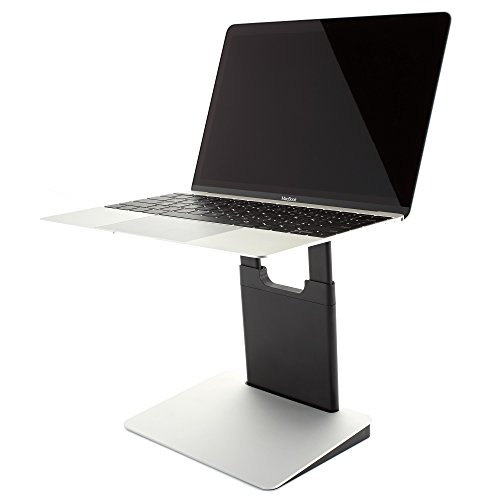 TINY TOWER Height Adjustable and Portable Laptop Stand For PC and MacBook - Classic Silver (Tower Height)
