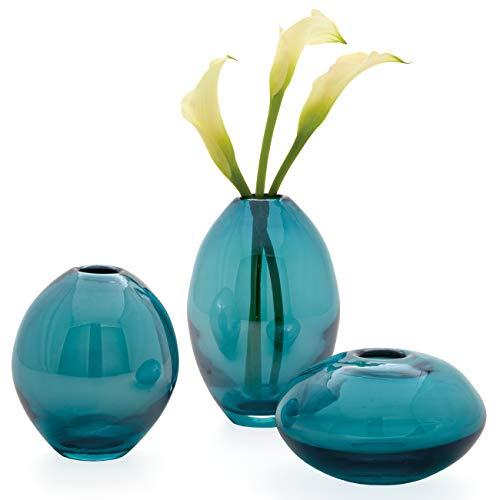 Torre & Tagus 901431 Mini Lustre Vases Assorted, Turquoise, Set of Three