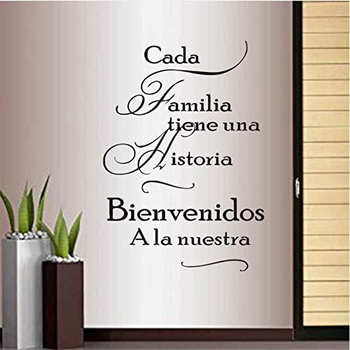Wmyzfs Frases Familiares En Español Pegatinas Para Cada