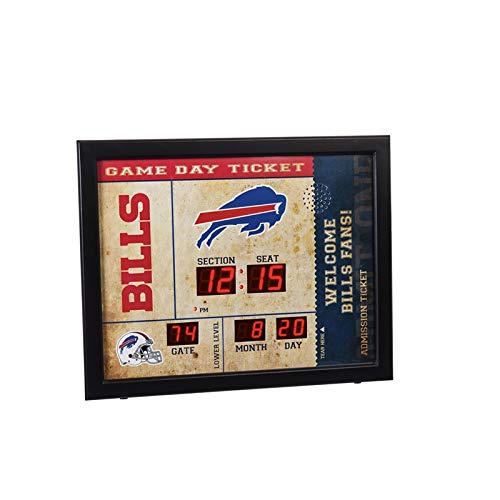 Evergreen NFL Buffalo Bills 14X19 Scoreboard, Team Colors, One - Clock Buffalo Bills