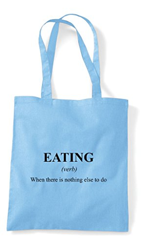 In Blue Eating Tote Alternative Shopper The Funny Definition Not Bag Dictionary Sky qgg7wPI