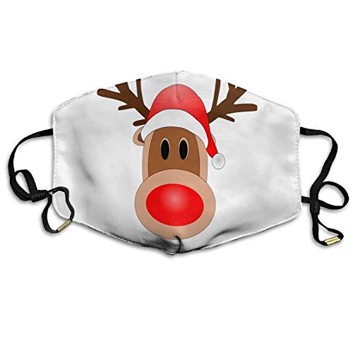 casually Face Mask Ear-Loop Dust Facemask Cycling Breathable Mask Christmas Reindeer Unisex