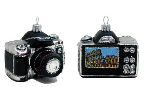 Italian Camera Blown Glass Christmas (Poland Glass Ornaments)