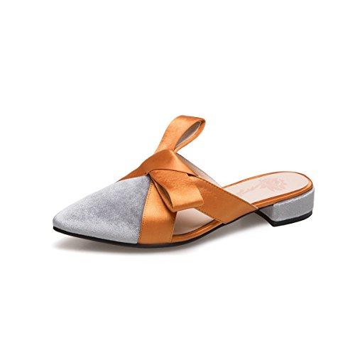 5Cm Zapatillas Y Zapatillas 3 Un De gris Punta Color Con De De Expuestas Hechizo Alto Los Zapatos Verano Alto Sandalias Tacón Chica Las La Gruesas GAOLIM Tacón Cool 0gB4qSw