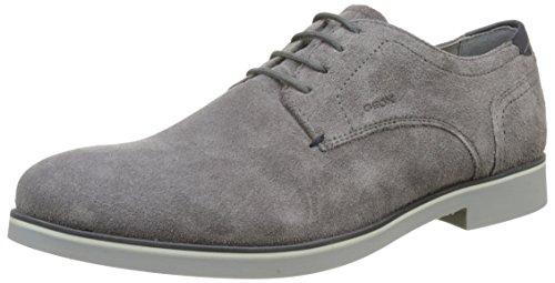 Geox U Danio C - Zapatos Derby Hombre Gris (Anthracitec9004)