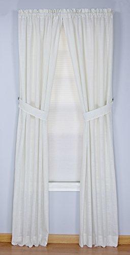 Connemara Rod Pocket Curtain Panel Pair (White, 72