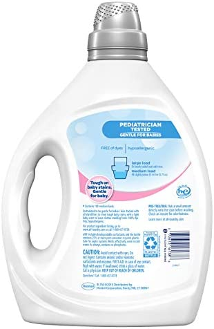 41guEjSvRmL. AC - All Liquid Laundry Detergent, Gentle For Baby, 2X Concentrated, 100 Loads