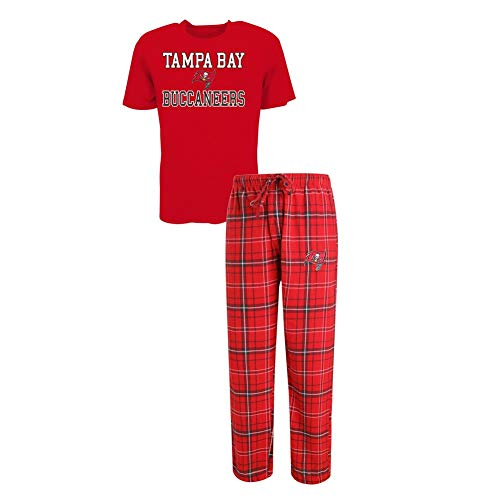 Concepts Sport Men's Tampa Bay Buccaneers Pajama Pants and T-Shirt Sleepwear Set (X-Large)