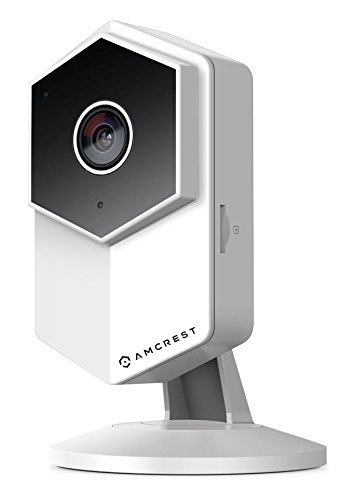 Amcrest ProHD Shield WiFi IP Security Camera, 960P 1.3 Megapixel(1280960P), Two-Way Audio, Wide 140° Viewing Angle, MicroSD & Cloud Recording, Night Vision, (White) (Certified ()