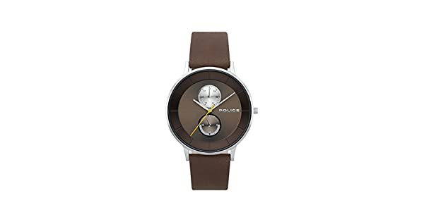 062ef99fe Police Watch for Men - Leather, Analog - P 15402JS-12: Amazon.ae