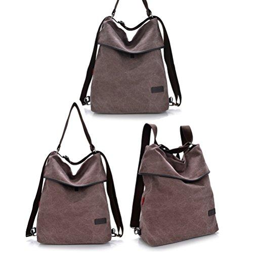 multifonction sac Couleur Femmes à de voyage à Fanshu du Café sac sac bandoulière toile dos dYqxI0R