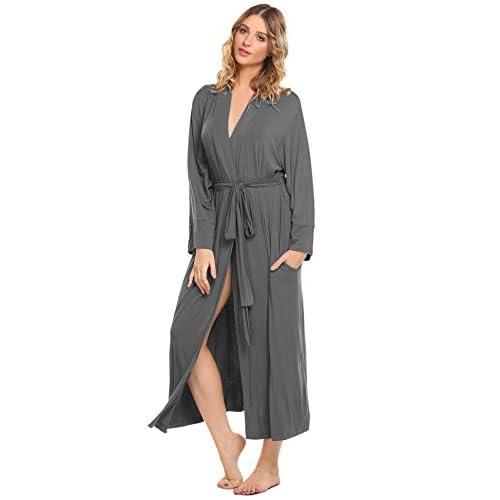 Ekouaer Women s Long Soft Kimono Robes Knit Bathrobe Comfort Sleepwear  Loungewear on sale 7002c2bf2