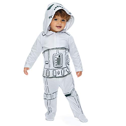 Star Wars Stormtroopers Costumes (Star Wars Storm Trooper Baby Boys Costume Zip-Up Footies with Hood 12)