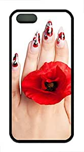 iPhone 5 5S Case Nail Painting TPU Custom iPhone 5 5S Case Cover Black