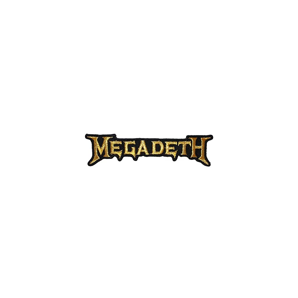 Parche bordado Megadeth Gold Band Logo