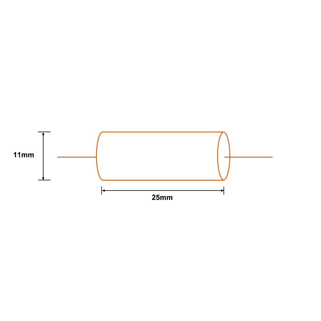uxcell Film Capacitor 100V DC 3.0uF Round Axial Polypropylene Film Capacitor for Audio Divider Yellow