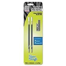Zebra Pen - Z-Mulsion Ex Refills, 1.0 mm, 2/PK, Black, Sold as 1 Package, ZEB 87312 by Zebra Pen