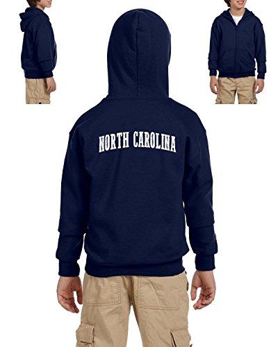 Ugo NC North Carolina Flag Charlotte Map 49ers Home of University of NC UNC Heavy Blend Youth Full-Zip Hooded Sweatshirt
