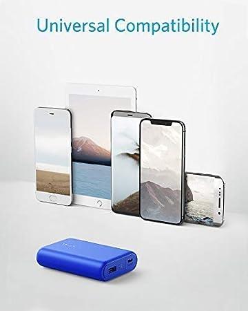 iPhone Caricabatteria Portatile da 10000mAh Ultra Compatta LG e Altri Samsung Anker Power Bank Batteria Portatile USB PowerCore 10000 ASUS Batteria Esterna Power Bank Alta capacit/à per Huawei