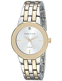 Anne Klein Women's AK/1931SVTT Diamond-Accented Dial Two-Tone Bracelet Watch