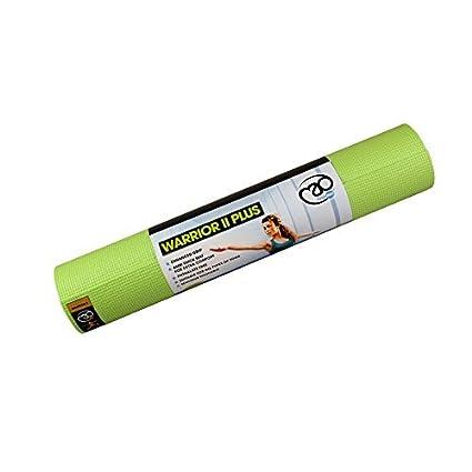 Amazon.com : Yoga Mad Warrior II Plus Yoga Mat - Lime Green ...