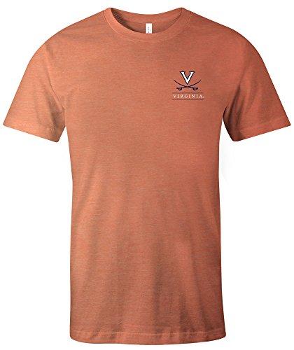 (NCAA Virginia Cavaliers Adult NCAA Simple Mascot Short sleeve Triblend T-Shirt,XL,Orange)