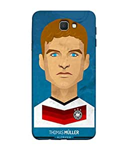 ColorKing Football Muller Germany 01 Blue shell case cover for Samsung On7 Prime