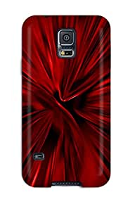 Galaxy S5 Case Cover With Shock Absorbent Protective Black And Red Case