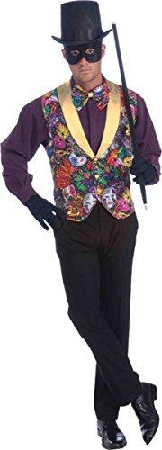 [Morris Costumes Men's MARDI GRAS VEST BOW TIE, one size] (Mardi Gras Costumes Vest)