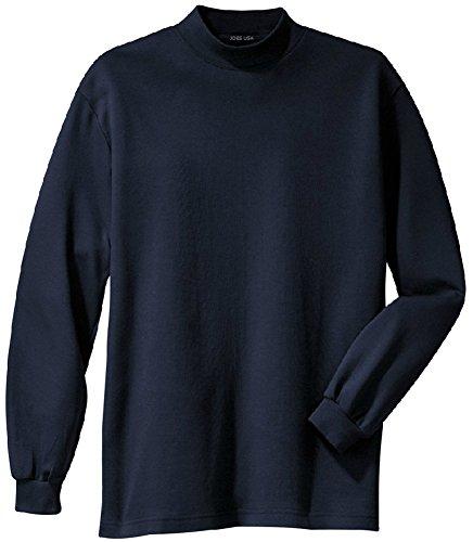 Joe's USA(tm) - Men's Interlock Knit Mock Turtleneck in Size XL
