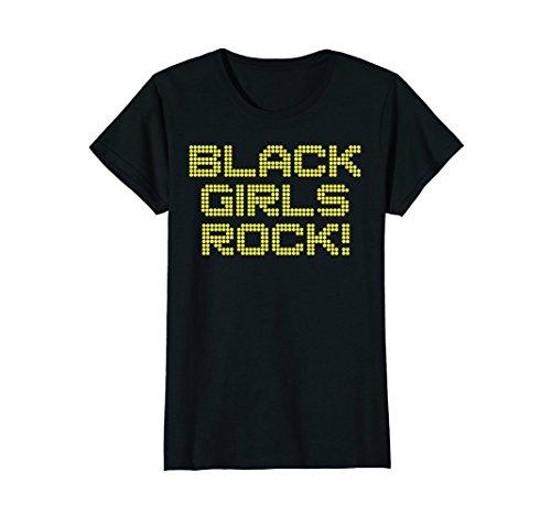 Womens Black Girls Rock T Shirt - Cool african american merch tee XL Black