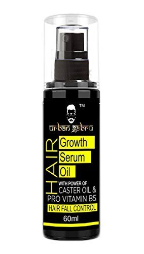 UrbanGabru Hair Growth Serum Oil with Castor Oil - Hair Fall Control Oil for Men & Women 60ml