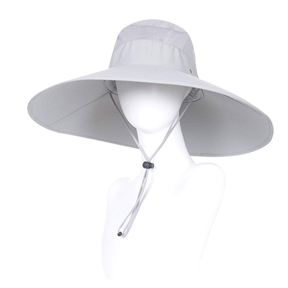 VISER Fishing Hats for Men and Women, Adjustable Chin Strap and Breathable Ventilation Holes,Foldable UV Protection Sun Hats Designed for Summer, Pool, Hiking, Camping, Travel,Beach