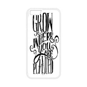 [Arts] Grow Where You are Planted Cases for IPhone 6 Plus, IPhone 6 Plus Case {White}