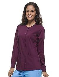 "Purple Label Women's ""Daisy"" 5063 Snap Button Jacket by Healing Hands Scrubs"