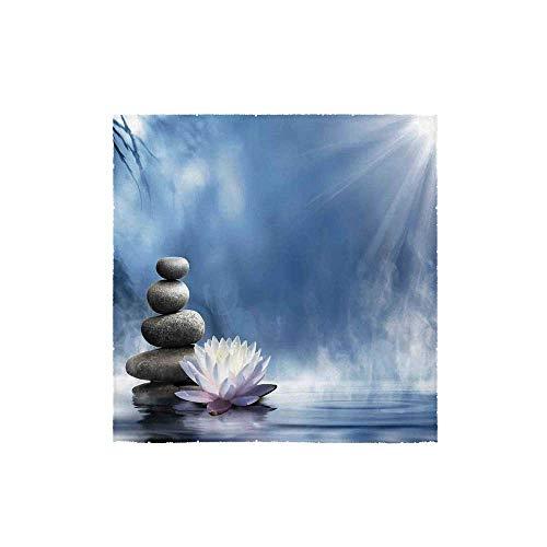 C COABALLA Spa Decor Durable Square Small Towel,Purity of The Zen Massage Magic Lily Stones Sunbeams Spirituality Serenity for Bathroom,13