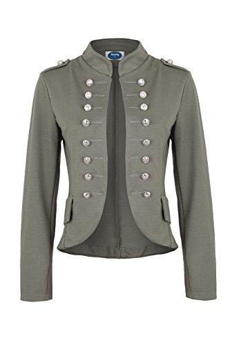 Blazer Militaire Style Massimo Kaki Ao 4tuality xHfpp