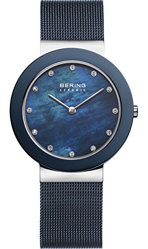 BERING Time Women's Ceramic Collection Watch with Ceramic Link Band and scratch resistant sapphire crystal. Designed in Denmark.